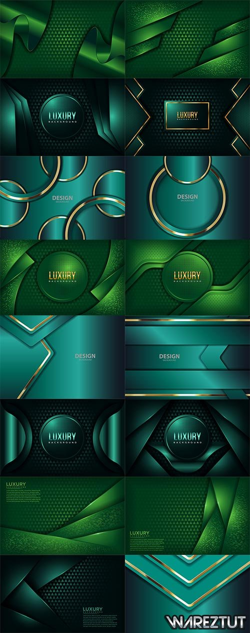 Green and turquoise backgrounds