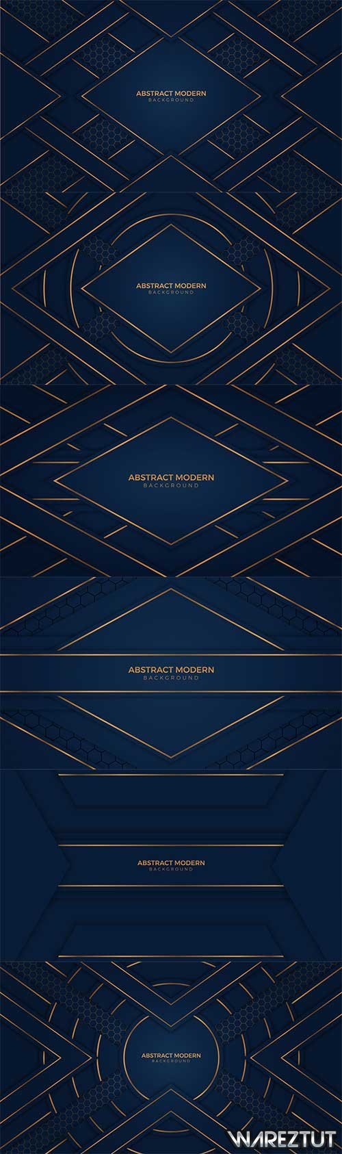Blue backgrounds with golden lines