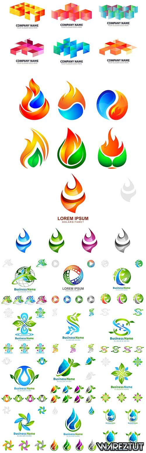 Environmental icons in vector