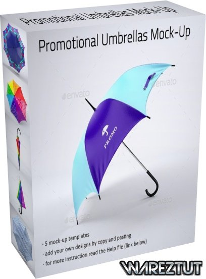 GraphicRiver - Promotional Umbrella Mock-Up