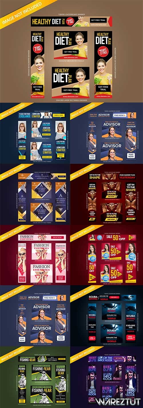 Web banner templates - vector clipart